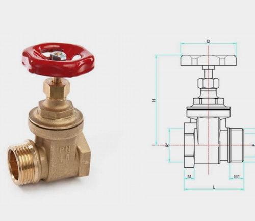 Brass full bore gate valve 2nd